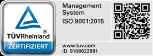 TÜV Rheinland Zertifiziert ISO 9001:2015
